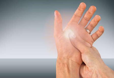 hand massage: Pain.