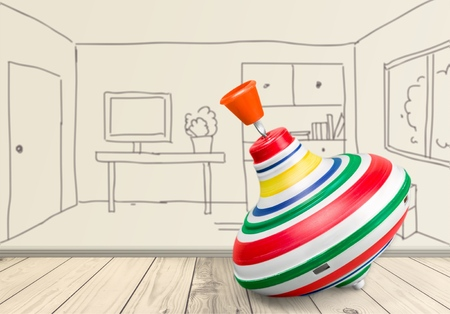 spinning top: Toy. Stock Photo