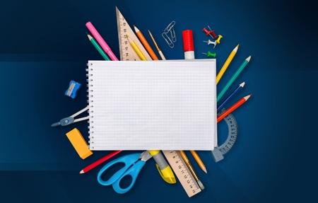 crayon  scissors: Desk.