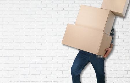 cajas de carton: Casa movil.