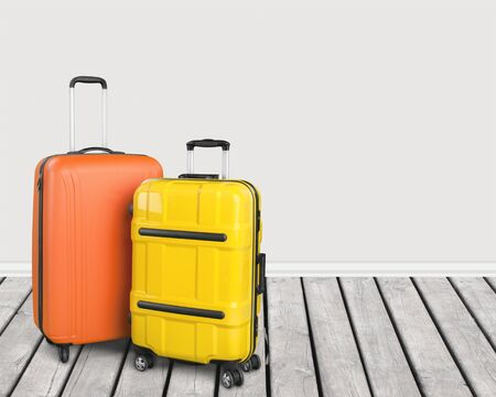 hotel booking: Bag. Stock Photo