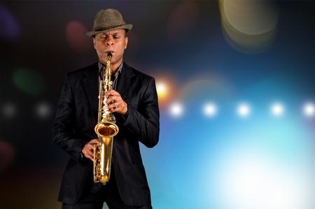 jazz musician: Musician. Stock Photo