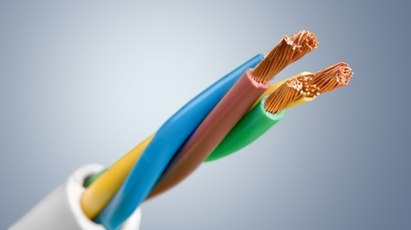 cable: Electricity. Stock Photo