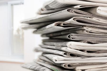 sunday paper: Newspaper. Stock Photo