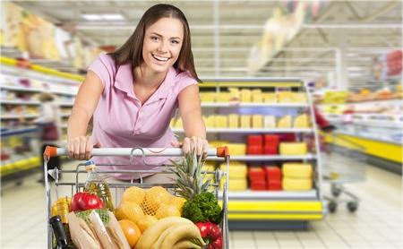 beat the clock: Supermarket. Stock Photo