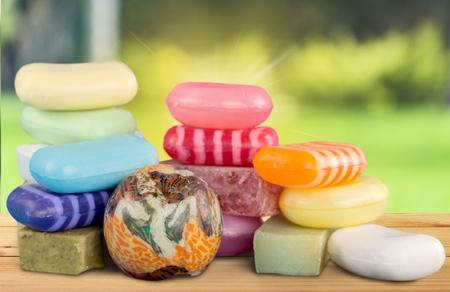 medium body: Bar Of Soap. Stock Photo