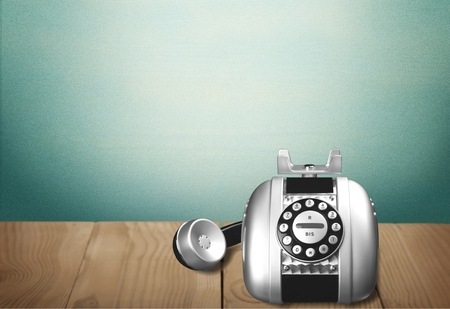 old fashioned rotary phone: Telephone.