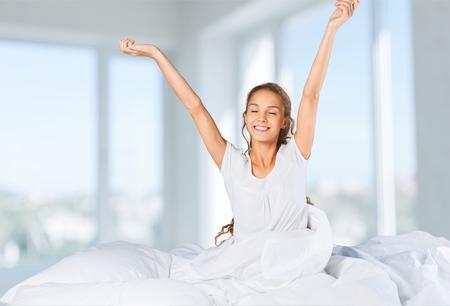 waking: Waking up.