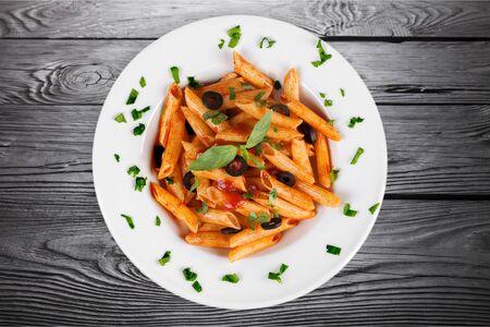 vegetarian food: Pasta.