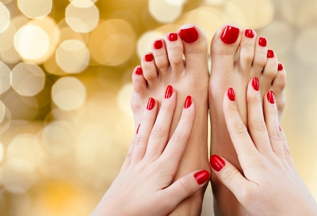 manicure and pedicure: Spa.