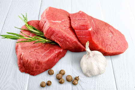 meat and alternatives: Steak. Stock Photo