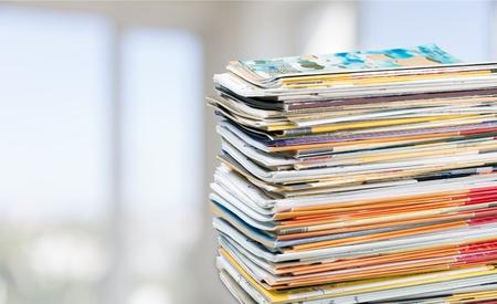 medium group of object: Magazine. Stock Photo