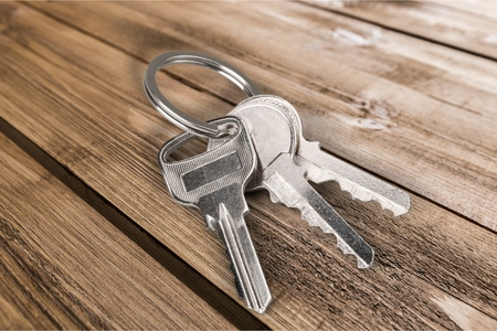 three objects: Key. Stock Photo