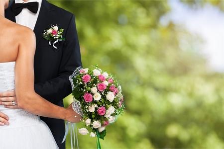 結婚式: 結婚式。 写真素材