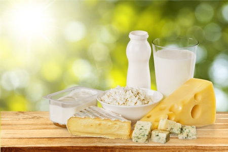 milk product: Dairy Product. Stock Photo