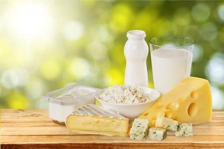 Mléčný produkt. Reklamní fotografie
