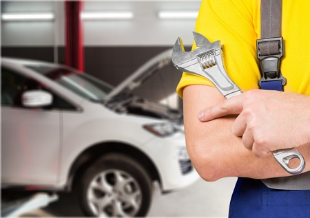 Auto Repair Shop. Stock Photo