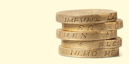 british english: One Pound Coin. Stock Photo