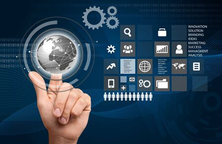 cloud technology: Cloud Computing. Stock Photo