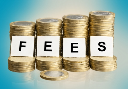 postgraduate: Fees. Stock Photo