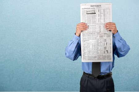 file clerk: Newspaper. Stock Photo