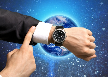 beat the clock: Time. Stock Photo