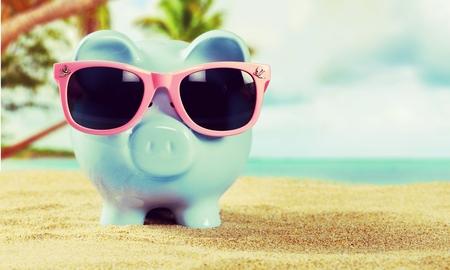 funny glasses: Bank.
