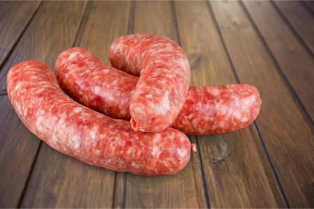 upperdeck view: Sausage. Stock Photo