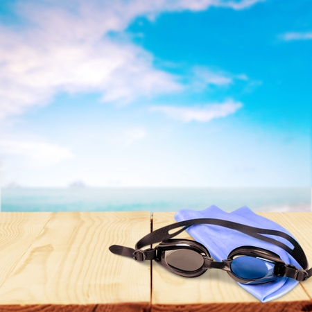 personal accessory: Swimming. Stock Photo