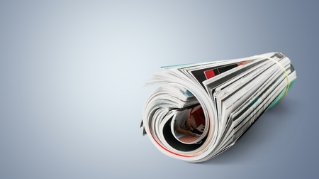 reading materials: Magazine. Stock Photo