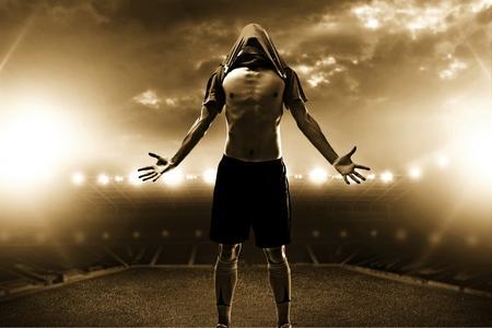 futbolista: Soccer. Foto de archivo