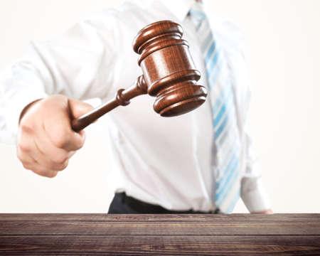 law suit: Auction. Stock Photo