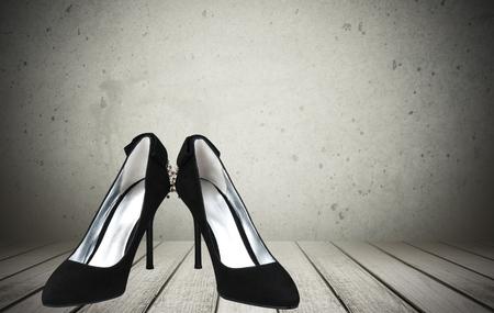 foot gear: Shoe. Stock Photo