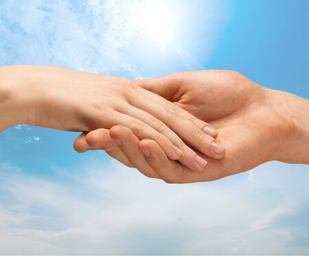 social grace: Holding Hands. Stock Photo