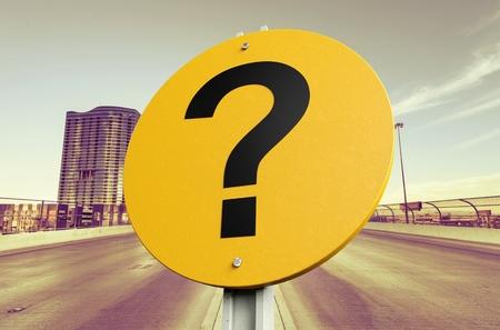 galvanised: Question Mark.