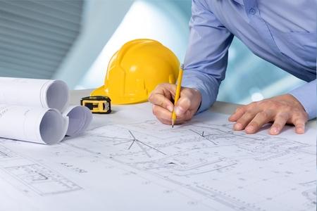 El arquitecto. Foto de archivo