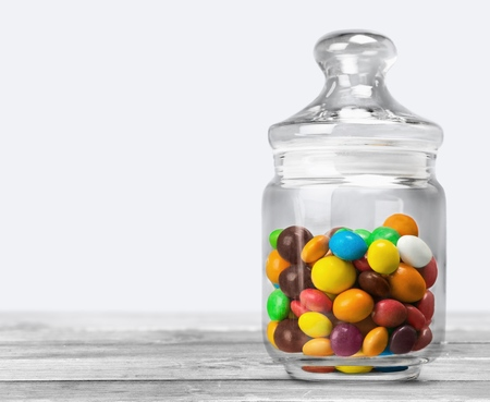 jellybean: Jar. Stock Photo