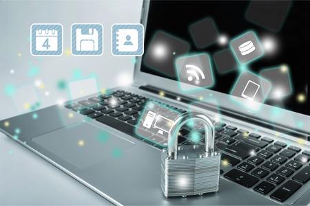 bug key: Network Security. Stock Photo