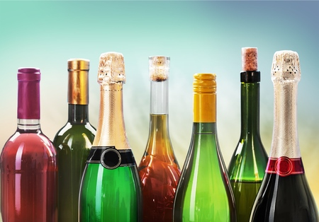 medium group of objects: Wine Bottle. Stock Photo