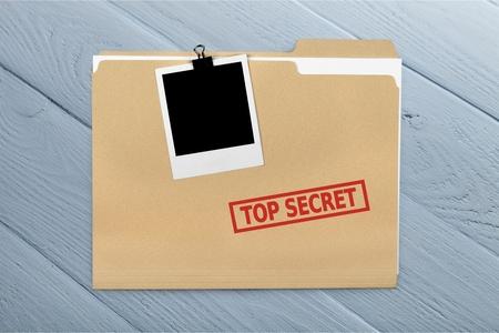 Top Secret. Stock Photo