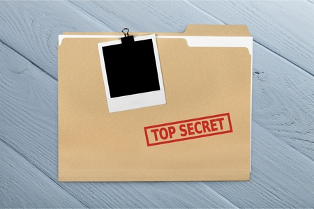 top secret: Top Secret. Stock Photo