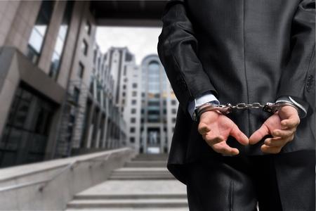 collar: White Collar Crime. Stock Photo