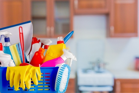house cleaner: Cleaning. Stock Photo