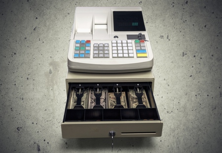 at close quarters: Cash Register.