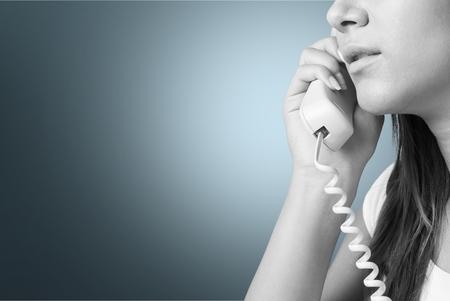 25 30 years women: On The Phone. Stock Photo