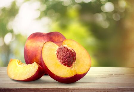 front view: Peach. Stock Photo