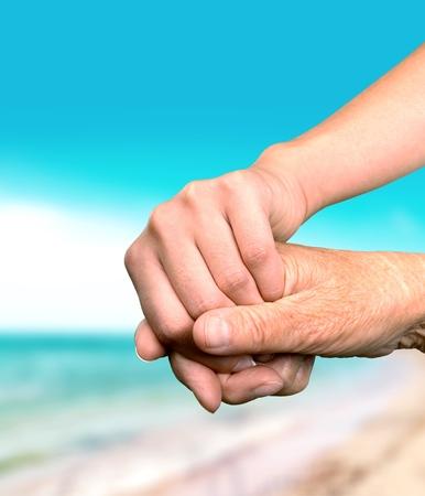 Menselijke hand.