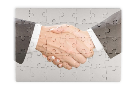 two objects: Handshake. Stock Photo