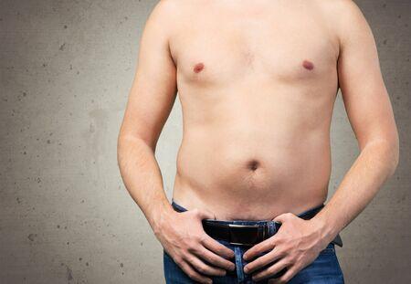 pot belly: Men.