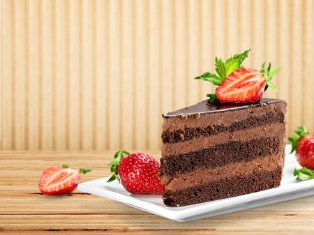 pastel de chocolate: Alimentos. Foto de archivo